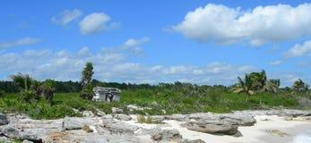 Caraïbisch strand in Riviera Maya, Cancun, Mexico Royalty-vrije Stock Foto