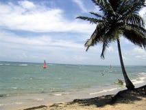 Caraïbisch strand: watersports Stock Foto