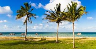 Caraïbisch strandlandschap in Varadero Cuba - de Rapportage van Serie Cuba royalty-vrije stock afbeelding