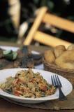 Caraïbisch voedsel: Buljol stock foto
