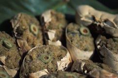 Caraïbisch voedsel: krab-rug stock foto
