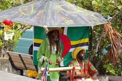 Caraïbische Aborigens van Doninica, royalty-vrije stock foto