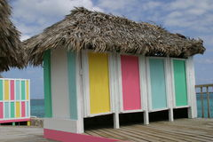 Caraïbische cabanna stock fotografie