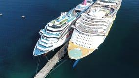 Caraïbische cruise Puerto Rico Island Carnival stock footage