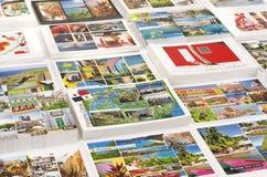 Caraïbische het beeldprentbriefkaaren van cruisethuishavens Royalty-vrije Stock Foto's