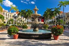 Caraïbische hoteltoevlucht, Mexico Stock Afbeelding