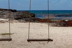 Caraïbische houten schommeling stock afbeeldingen