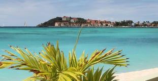 Caraïbische overzees in St Maarten Stock Afbeeldingen