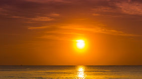 Caraïbische overzeese zonsopgang stock afbeelding