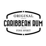 Caraïbische Rum uitstekende zegel Royalty-vrije Stock Afbeeldingen