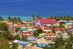 Caraïbische stad - St Lucia Royalty-vrije Stock Fotografie