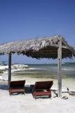 Caraïbische strandvakantie   stock afbeeldingen