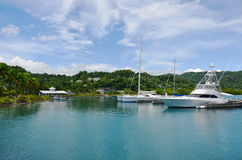 Caraïbische Tropische jachthaven Stock Foto's