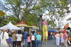 Caraïbische Voedselmarkt Royalty-vrije Stock Afbeelding