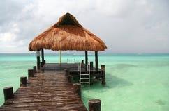 Caraïbische Voetgangersbrug stock fotografie