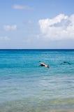 Caraïbische Wateren Stock Afbeeldingen