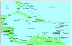 Caraïbische Zee Stock Foto's