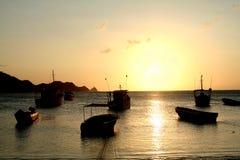 Caraïbische Zee. De Baai van Taganga. Colombia. Royalty-vrije Stock Fotografie