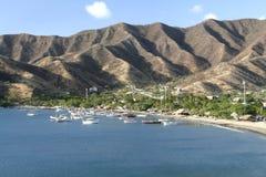 Caraïbische Zee. De Baai van Taganga. Colombia. Royalty-vrije Stock Foto's