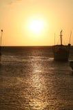 Caraïbische Zee. De Baai van Taganga. Colombia. stock fotografie