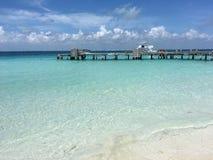 Caraïbische Zee op Isla Mujeres Mexico royalty-vrije stock afbeelding