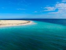 Caraïbische Zee in Playa Paraiso, Largo Cayo, Cuba Stock Afbeelding