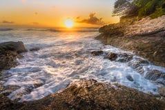 Caraïbische Zonsondergang Royalty-vrije Stock Afbeeldingen