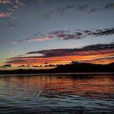 Caraïbische Zonsondergang Stock Afbeeldingen