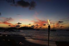 Caraïbische zonsondergang Stock Fotografie