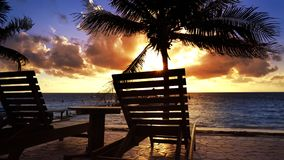 Caraïbische zonsopgang in Mayan Riviera van Mexico