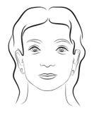 Cara 3 de la mujer joven Foto de archivo