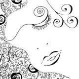 Cara abstracta de la mujer Fotos de archivo