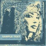 Cara abstracta de la mujer del fith del fondo Foto de archivo libre de regalías