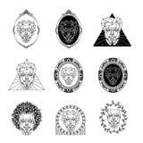 Cara abstrata para o logotipo elegante Fotografia de Stock Royalty Free