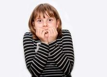 Cara adolescente chocada de la muchacha Fotografía de archivo