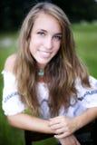 Cara adolescente de la belleza Imágenes de archivo libres de regalías