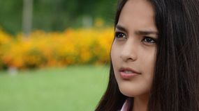Cara adolescente de la muchacha Fotos de archivo