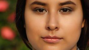 Cara adolescente de la muchacha con la piel hermosa Foto de archivo