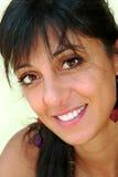 Cara adolescente hermosa de la sonrisa de la mujer Foto de archivo libre de regalías