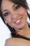 Cara adolescente hermosa de la sonrisa de la mujer Imagenes de archivo