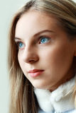 Cara adolescente joven de la muchacha Fotografía de archivo libre de regalías