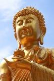 Cara agradable de buddha del oro fotografía de archivo