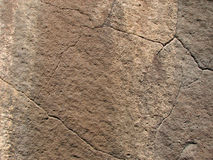 Cara agrietada del basalto Fotografía de archivo libre de regalías
