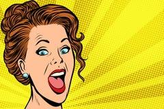 Cara alegre da mulher ilustração stock