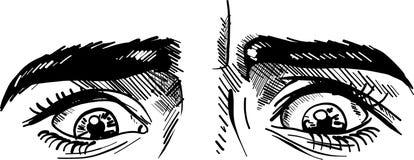 Cara amedrontada illustartion do vetor da tração do homem ilustração do vetor