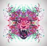 Cara animal abstracta ilustración del vector