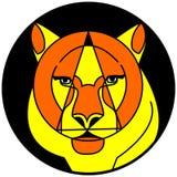 Cara artística do tigre Imagem de Stock
