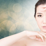 Cara asiática da beleza fotografia de stock royalty free