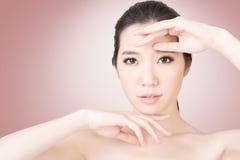 Cara asiática da beleza imagem de stock
