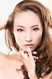 Cara asiática da mulher imagens de stock